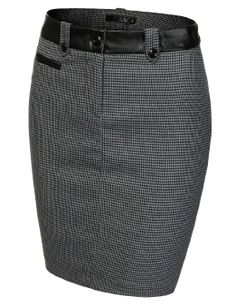 Amazon.com: J.TOMSON Womens Front Zip Stretchy Pencil Skirt: Clothing