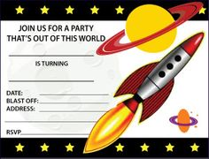 Free Space Party Invitations