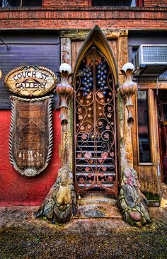 Cool door - found and photographed by John R. Rogers in the Pearl District, Portland, Oregon