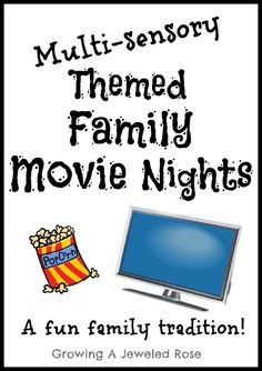 Start a FUN new tradition!  Read the post to see how we put together our first themed family movie night- definitely not your ordinary movie night!
