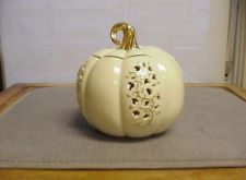 """NEW 11"""" Lenox Ivory and Gold Pumpkin Pierced Vines for Autumn Gift or Home Decor  #eBay #Halloween"""