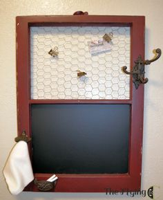 Organizer from a vintage window from flyingc-diy.com