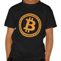 Our Bitcoin Logo Type 2 T Shirt. Bitcoin, you can be your own bank. High resolution Bitcoin logo design just for you. Spread the word of Bitcoin, Vires in Numeris, Strength in Number people's choice crypto currency technology.