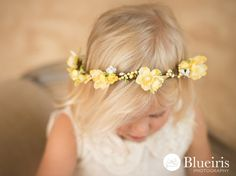 Rustic Vine w Yellow Silk Flowers Halo by greenearthstudio on Etsy