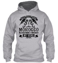 MOROCCO - My Veins Name Shirts #Morocco