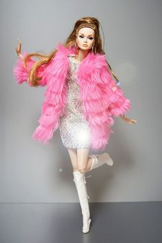in Groovy poppyparker by RockWan FR Barbie Mode, Bad Barbie, Barbie Dress, Barbie Clothes, Pink Fashion, Party Fashion, Love Fashion, Fashion Royalty Dolls, Fashion Dolls