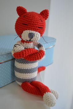 Gehäkelter Kater nach einer Anleitung von Nekoyama. http://schautmal.de/ich-habe-einen-kater/ #Häkeln #crochet #Amigurumi #Häkeltiere #Katze #Anleitung