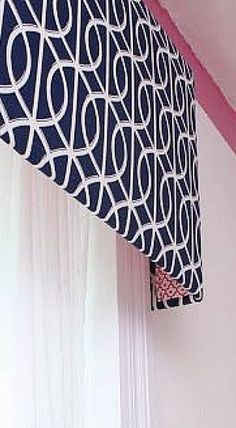 Home decorating ideas - window treatments - cornices made of FoamCore - how to  tutorial