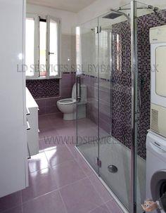 Ristrutturazione nuovo bagno. Rivestimento: Lilla www.ldservices.it