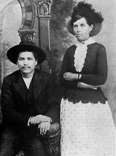 Blue Duck, sometimes referred to as Bluford Duck, (1858? - 1895) was an outlaw of the Old West, probably best known for a photograph taken of him around the mid-1880s, in which he posed with Belle Starr, a famous Old West female outlaw.