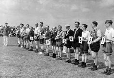 A Knobbly Knees Contest at Butlins Holiday Camp in Filey in July, 1954