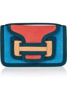 Pierre Hardycolor-block suede shoulder bag