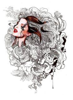 Artwork by iain macarthur graphic - doodle art. Illustration Art Drawing, Creative Illustration, Art Drawings, Shadow Sense, Fantasy Castle, Past Present Future, Freelance Illustrator, Doodle Art, Amazing Art