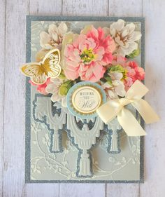 Today I am sharing some more samples I made for the July HSN show. These Tassle and Fringe dies were so much fun! Anna Griffin Inc, Anna Griffin Cards, Paper Cards, Diy Cards, Scrapbooking Layouts, Scrapbook Cards, Craft Sites, Greeting Cards Handmade, Pattern Paper