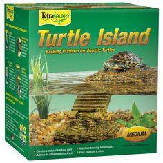 TetraFauna Floating Turtle Island Basking Platform, Medium Aquatic Turtle Habitat, Aquatic Turtle Tank, Turtle Aquarium, Aquatic Turtles, Aquarium Ideas, Turtle Tank Setup, Turtle Dock, Turtle Tanks, Fish Tanks