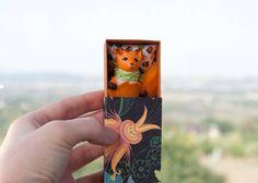 #Miniature #fox in a #matchbox