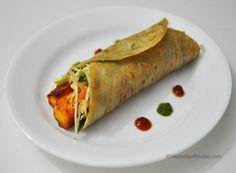 Achari Paneer Kati Roll Recipe