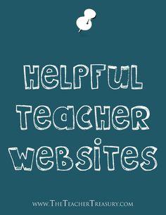 #Teachers check out this Pinterest Board! - Helpful Teacher Websites