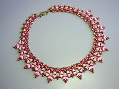 Tutorial - Arcadia Necklace - Arcos and Minos, Kheops, Superduo and Fire Polish beading tutorial by zviagil on Etsy