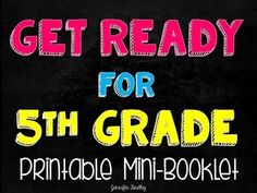 Get your 4th Graders Ready for 5th Grade!I created this resource to prep 4th graders with some 5th grade skills. Teaching the next years math skills after the state test can help keep your students engaged and motivated. In addition, it helps give them a head start for 5th grade and builds their confidence.5th grade teachers, get your kids ready for 6th grade by clicking here to check out the Get Ready for 6th Grade Mini Booklet.This resource does not teach the skills.