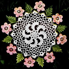 Irish Rose crochet doily - I learned how to crochet when I was seven making doilies just like this one - Annilee