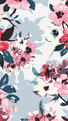 Estampado floral Tumblr Iphone, Iphone 8, Pretty Patterns, Flores Wallpaper, Patterned Vinyl, Watercolor Pattern, Swag, Creative Inspiration, Floral Flowers