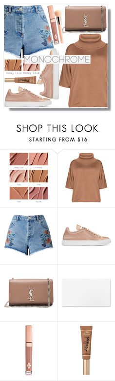 """""""caramel outfit"""" by monykhaled ❤ liked on Polyvore featuring MAC Cosmetics, Isolde Roth, Miss Selfridge, Jil Sander, Yves Saint Laurent, Charlotte Tilbury, Too Faced Cosmetics and Guerlain"""