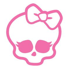 Girlie Skull with Bow cute 5 inch Vinyl Decal - Perfect for Windows, cars, truck, motorcycles, notebook, laptop, wall, etc.