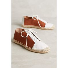 KMB Jorinda Espadrille Sneakers (205 CAD) ❤ liked on Polyvore featuring shoes, sneakers, white, white shoes, genuine leather shoes, leather sneakers, espadrille sneakers and white leather trainers
