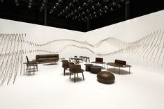 ChocolaTexture Lounge by Designer of the Year , Nendo, for this year's Maison&Objet was an installation constructed mainly of chocolate. Nendo Design, Lounge Design, Retail Space, Japanese Design, Display Design, Contemporary Architecture, Cool Furniture, Photo Wall, Place Card Holders