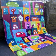 Scary Squares monster quilt - Buscar con Google