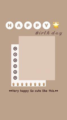 Birthday Posts, Birthday Frames, Birthday Cards, Birthday Pictures, Birthday Captions Instagram, Birthday Post Instagram, Creative Instagram Stories, Instagram Story Ideas, Happy Birthday Template