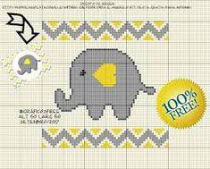 Resultado de imagen para elefante em ponto cruz