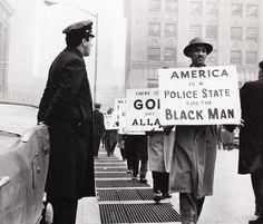 """""""America is a police state for the black man"""" New York City Criminal Court Building, Photo credit: Robert L. Haggins — in New York, NY"""
