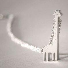 Sterling Silver Giraffe Necklace  from kellinsilver.com