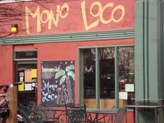 Mono Loco - A converted gas station in Charlottesville, VA. It is absolutely the best restaurant in the world. Cuban Fusion.