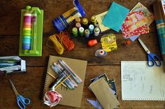'art journal supplies...!' (via ashleylemos on Flickr)
