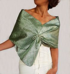 Evening Shawl Wrap, Metallic Pistachio Green Taffeta Shrug, Special Occasion, Wedding Dress Cover Up, Mother of the Bride Bridesmaids Stole Evening Shawls, Evening Dresses, Cocktail Outfit, Smart Dress, Pistachio Green, Tulle Fabric, Costume Dress, Shawls And Wraps, Dress Me Up