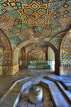 Golestan Palace, Tehran - IRAN *so beautiful Architecture Unique, Persian Architecture, Architecture Quotes, Beautiful Buildings, Beautiful Places, Art Du Monde, Iran Travel, Moorish, Islamic Art