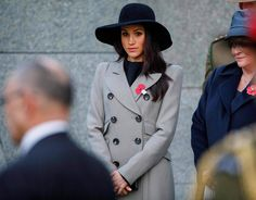 Meghan Markle attends an Anzac Day dawn service at Hyde Park Corner in London on April 25, 2018.
