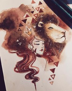 WEBSTA @ peithedragon - For all the Leos out there (including myself hurrr ♌️🙆🏻❤) Amazing Drawings, Cute Drawings, Amazing Art, Aquarium Drawing, Zodiac Art, Leo Zodiac, Arte Disney, Pretty Art, Art Inspo