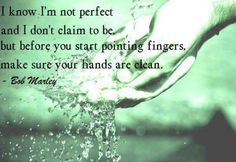 Sadly people point fingers when they're own hands are smeared with dirt