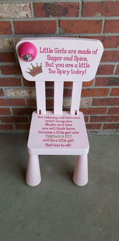 Time out chair - Love this idea (love the timer on it!)