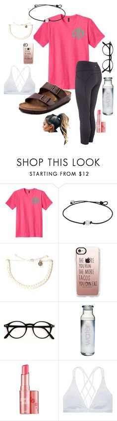 """SHOUTOUT SET!!!/ rtd"" by chanceprep ❤ liked on Polyvore featuring Pura Vida, Casetify, Benefit, Victoria Sport and Birkenstock"
