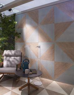 [ Younhyun Tile / 윤현상재 타일 ] Triagle Tile : Blend Smoke ,  White / Size (cm) : 60X60