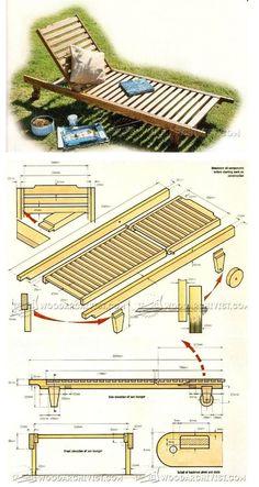 Sun Lounger Plans - Outdoor Plans and Projects   WoodArchivist.com
