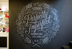 art project, dana tanamachi, chalk lettering, font, tommy hilfiger, chalkboard art, hand lettering, chalkboard lettering, chalk art