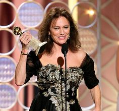 The Hot Mess award of the week goes to Jacqueline Bisset. Her speech at the Golden Globes will go down in history as one of the best WTF speeches ever. Cheers Jacqueline! #hotmess