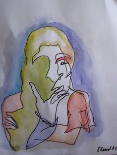 Suzabelle's Art Journal: blind contour drawings                                                                                                                                                                                 More
