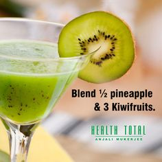 Kiwi Smoothie, Smoothies, Cocktail Drinks, Cocktails, Pineapple, Diet, Ethnic Recipes, Vers Fruit, Health Foods